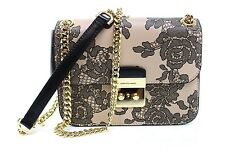 Authentic Michael Kors Lace Oyster Sloan Editor MD Leather Chain Shoulder Bag