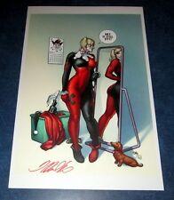 HARLEY QUINN #17 signed FRANK CHO art print litho poster 11x17 JOKER OLD COSTUME