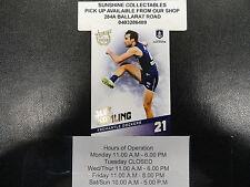 2017 AFL SELECT CERTIFIED BASE CARD NO.67 FREMANTLE JOEL HAMLING