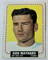 1964 Topps football card #121 DON MAYNARD New York Jets