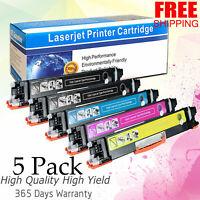 5 Pack CF350A 130A Color Toner Cartridge For HP LaserJet Pro MFP M176n M177fw