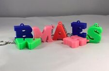 3D Printed Initial/Lettering/Number Keyrings/Keychain