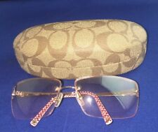 Women's Coach Aviator Style Pink Sunglasses Kelly (S318) Light Pink W/ Case