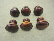 Set Of 6 Victorian Hardwood Drawer Knobs