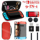9 in1 For Nintendo Switch Carry Case Pouch Shell Cover HD Glass Screen Protector