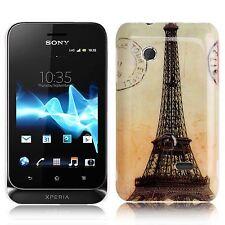 Hardcase Schutzhülle für Sony xperia Tipo Dual St21i Eiffelturm orange