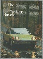 1973 PORSCHE 914 advertisement, rainy autumn road