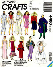 McCalls Crafts Sewing Pattern Barbie Doll Clothes Wedding Dress Tops Short Pants