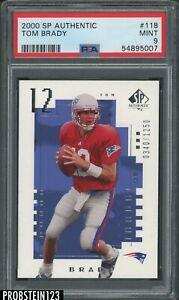 "2000 SP Authentic #118 Tom Brady Patriots RC Rookie /1250 PSA 9 "" HIGH END """