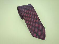 HERMÈS PARIS Designer Seidenkrawatte Krawatte Silk Tie Seide Rot Dunkelblau