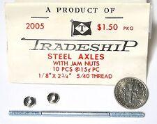 Slot Car US 1/32 1/24 Cox Revell etc Tradeship 2005: 1 axe avec ecrous acier