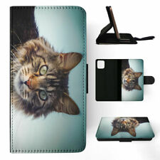 APPLE iPHONE FLIP LEATHER CASE WALLET COVER|MAINE COON CAT 2