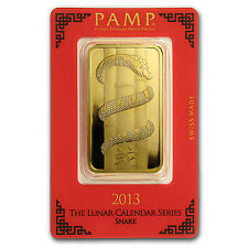 100 gram Gold Bar - PAMP Suisse Year of the Snake (In Assay) - SKU #87408