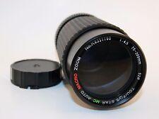 cb Tou Five Star MC Auto Macro Zoom 75-200mm 52mm Lens Minolta Konica