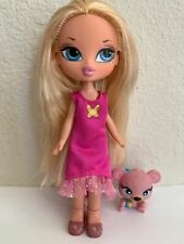 Girlz Girl Bratz Kidz Kid Cloe Doll Blonde Hair Blue Eyes Clothes Shoes Pet