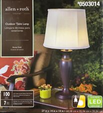 """Allen + Roth Cadenby 27"""" Bronze Solar LED Outdoor Table Lamp"""