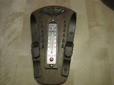thermomètre  ancien en bois  .Objet de la maison Vintage