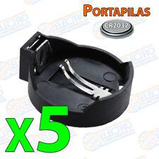 5x Portapilas pila BOTON CR2032 CR2016 CR2020 CR2025 battery holder