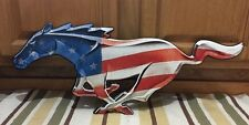 Ford Mustang Metal Art Signs Garage Shop Man Cave Gas Oil USA Flag Car 5.0 Boss