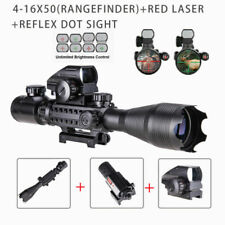 Pinty 4-16x50 Toy Rifle Scope w/ Red Laser + Holographic Red + Green Dot Sight