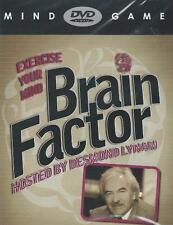 THE BRAIN FACTOR MIND GAME WITH DESMOND LYNAM DVD BUY NOW FREE UK PP
