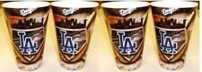 DODGERS LOS ANGELES  4 DRINK Plastic GLASSES Tumblers 22oz NEW Drink Cups