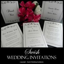Luxury Swirl Vintage Wedding Engagement Event Invitations & Stationery - Sample
