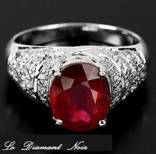 _LDN_Bague Rubis Rouge Pigeon + Saphirs_Argent 925_T56