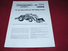 International Harvester Wagner 120 Loader For 240 Tractor Dealer's Brochure