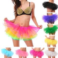 6 capa Mini para mujer Dancewear Tutu Ballet Pettiskirt Princesa Fiesta Falda Disfraz