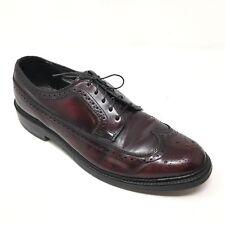 Men's VINTAGE Bostonian 21402 Shoes Oxfords Size 9D Burgundy Leather V Cleat R4
