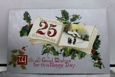 Christmas Xmas Greetings Postcard Old Vintage Card View Standard Souvenir Postal