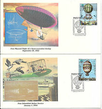 PARAGUAY; BALLOON FIRST DAY COVERS, SCOTT # C530-531