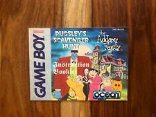 Addams Family Pugsley's Scavenger Hunt Manual Only Nintendo Gameboy VERY GOOD