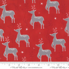 JOL Reindeer on Red #00-16 Christmas Moda Quilting Fabric by the 1/2 yard