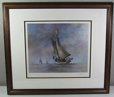 John Kelly Ketch Sailboat Hand Signed Framed Artists Proof COA Edition #500