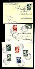 NETHERLANDS 1948 AUTOPOSTKANTOOR ZUTPHEN -1 x COVER + 2 x KAART