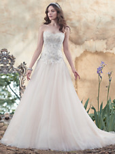 Maggie Sottero Wedding Dress CLEO sz 12 White/Pewter  NEW!!