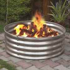 """NEW 36"""" Portable Galvanized Steel Fire Ring Pit Metal Backyard Camping Cookout"""