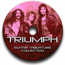TRIUMPH ROCK GUITAR TAB TABLATURE SONG BOOK SOFTWARE CD