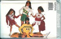 Butterick 3659 Girls Cheerleader Costume Uniform Pattern Top Skirt 4-14 UNCUT FF