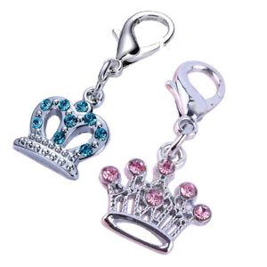 Chameleon Pet Dog, Puppy, Cat Collar Crown Pendant Charm Jewellery