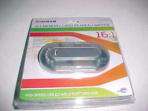 Fujifilm Professional DCR2-161 USB 2.0 3 port Hub Digital Card Reader 16 in 1