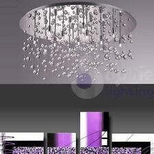 Plafoniera lampada soffitto design moderno acciaio cromo cristalli pendenti