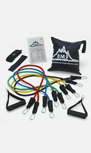 Resistance Band Set w/ Door Anchor Ankle Strap, Cable Exercise, Home Workout Kit