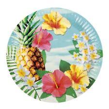 Set de 6 Paraíso platos de papel Tropicales hawaianas Vajilla Fiesta