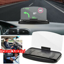 Universal Car HUD Head Up Navigation Display Phone Holder GPS Projector Accessor