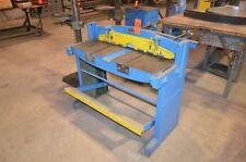 "Roper Whitney Pexto 37"" foot stomp shear Model 137 back gage HVAC sheet metal"