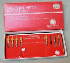 Vintage Hunt Speedball Artist Pen Calligraphy Set No.5 w/inserts, box No Stylus