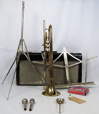 VTG Buescher Aristocrat T120 Trumpet 88D 7C Mouthpieces Accessories Case w Keys